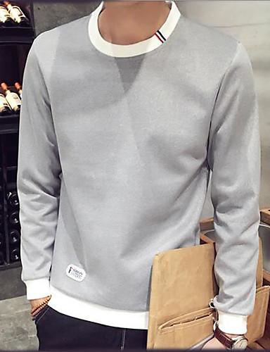 Men's Weekend Sweatshirt - Color Block Round Neck