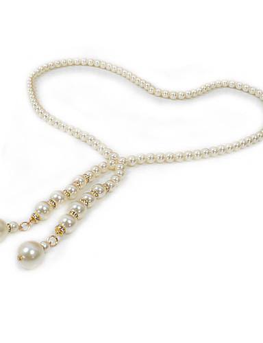 Women's Irregular Style Imitation Pearl Rhinestone Alloy Chain - Solid Colored Fashion
