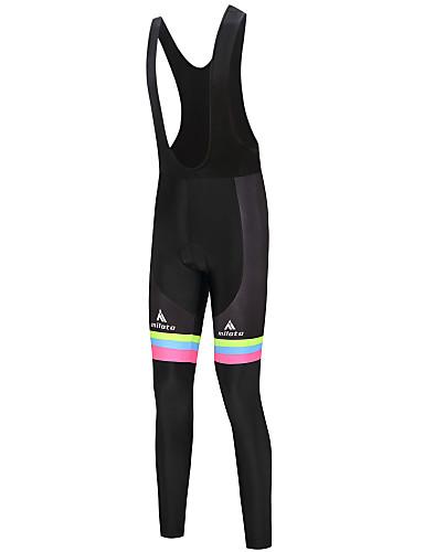 cheap Cycling Clothing-Miloto Women's Cycling Bib Tights Bike Bib Tights Pants Sports Winter White / Black Road Bike Cycling Clothing Apparel Relaxed Fit Bike Wear / Stretchy