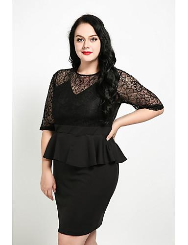 femme grandes tailles mignon gaine robe dentelle. Black Bedroom Furniture Sets. Home Design Ideas
