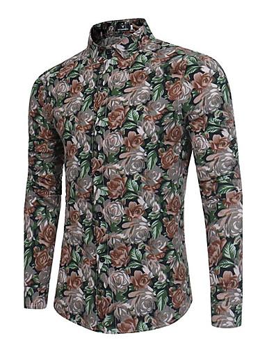 Herrn Blumen - Chinoiserie Hemd / Langarm