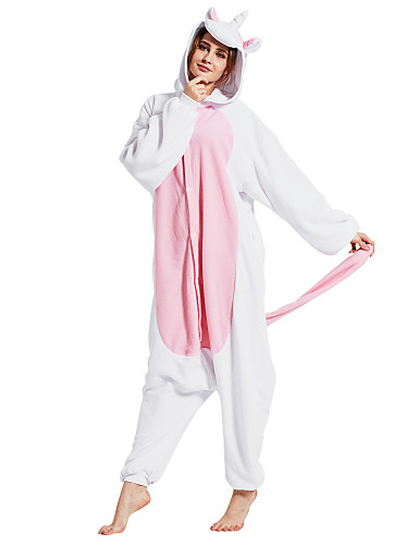 a91f4ae00a9a Adults  Kigurumi Pajamas Unicorn Animal Onesie Pajamas Polar Fleece Pink  Cosplay For Men and Women Animal Sleepwear Cartoon Festival   Holiday  Costumes
