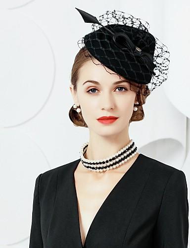 billige Hatte & Imponeringer-ullfjær fascinators hatter headpiece klassisk feminin stil