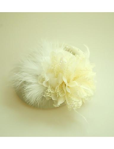 abordables Chapeau & coiffure-Tulle / Molleton / Plume Fascinators / Chapeaux avec Plume 1 Mariage / Occasion spéciale / Soirée / Fête Casque