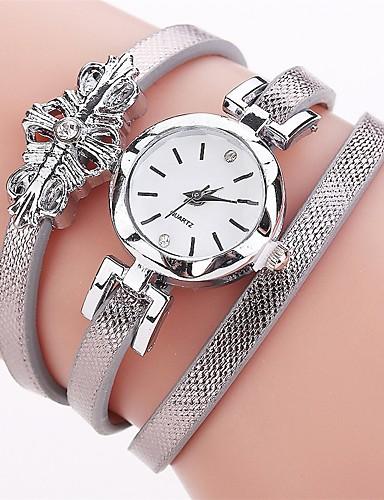 Women's Bracelet Watch / Simulated Diamond Watch Chinese Imitation Diamond PU Band Charm / Casual / Fashion Black / White / Blue