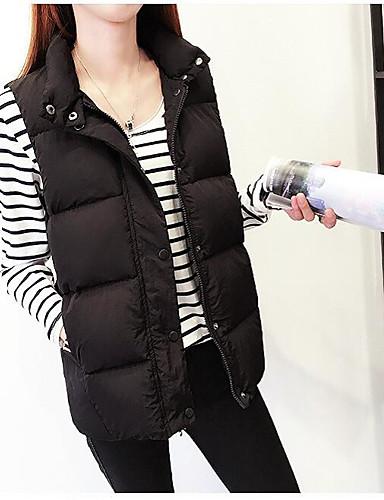 Damen Gefüttert Mantel Niedlich Street Schick Ausgehen Solide-Polyester Ärmellos