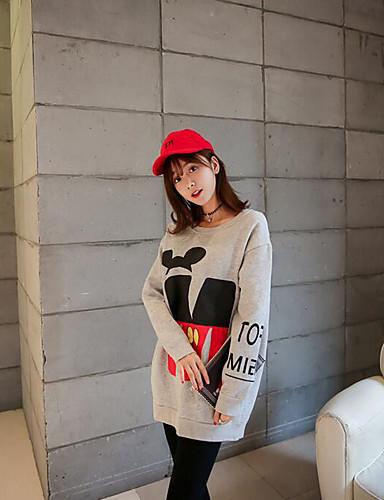 Damen Pullover Lässig/Alltäglich Druck Baumwolle Andere