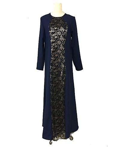 Damen Boho Etuikleid Kleid Einfarbig Maxi