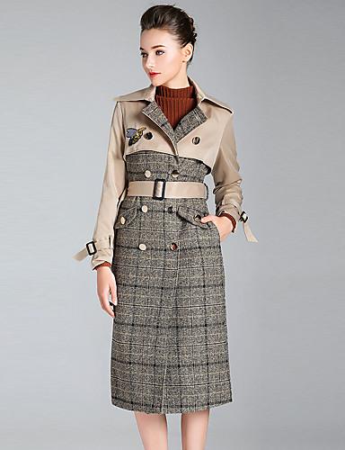 Trencz Damskie Wyrafinowany styl Moda miejska Wielokolorowa Poliester