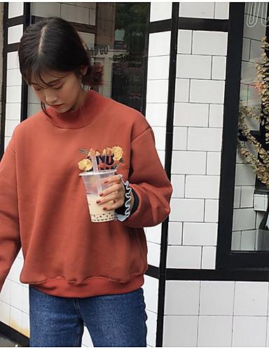 Damen Pullover Lässig/Alltäglich Druck Baumwolle Acryl
