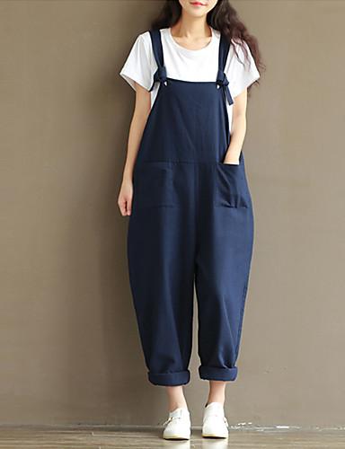 9f808232387 Women s Street   Athleisure   Weekend Street chic Strap Blue Brown Black  Jumpsuit