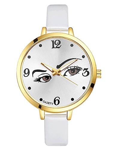 Damskie Kwarcowy Obudowy akumulatorów Zegarek na nadgarstek Chiński Duża tarcza PU Pasmo Na co dzień Kolorowy Elegancki Czarny Biały