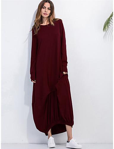 Dámské kaftan Šaty - Jednobarevné Maxi