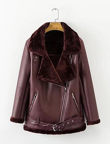 Damen Gefüttert Mantel,Standard Einfach Ausgehen Lässig/Alltäglich Solide-Baumwolle Langarm