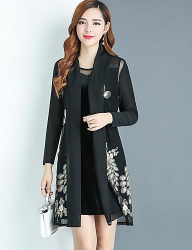 Damen Solide Geometrisch Freizeit Ausgehen T-shirt Kleid Anzüge Herbst
