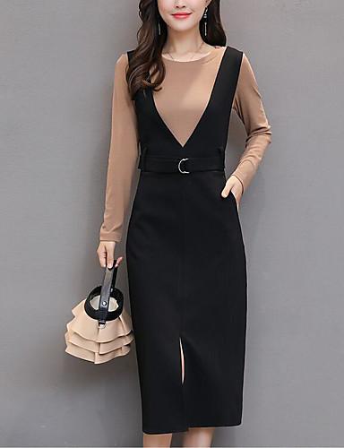 Damen Solide Einfach Lässig/Alltäglich Set Kleid Anzüge,Gurt Winter Ärmellos Baumwolle