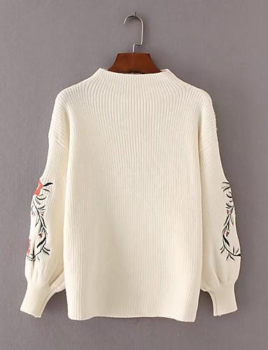 Damen Standard Pullover-Ausgehen Lässig/Alltäglich Solide Rollkragen Langarm Wolle Baumwolle Andere Mittel Dick Mikro-elastisch