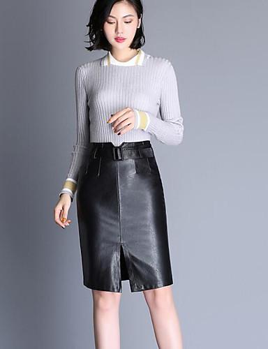 Damen Knielänge Röcke