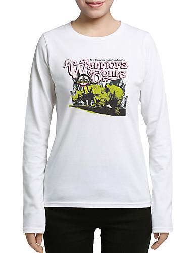 Damen Chinoiserie T-shirt Druck Baumwolle