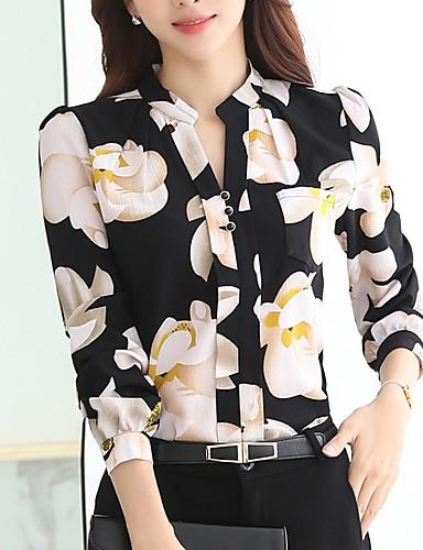 povoljno Majica-Majica Žene Dnevno / Vikend Cvjetni print Uski okrugli izrez Obala / Proljeće