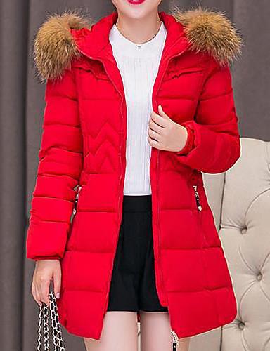 Damen Solide Gestreift Ausgehen Druck Freizeit Aktiv Daunenjacke Langarm Baumwolle