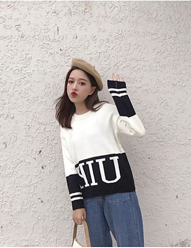Damen Langarm Pullover - Solide