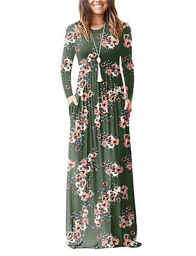 2555df10268b Dame Ferie I-byen-tøj Boheme Skede T Shirt Kjole - Blomstret Vintage