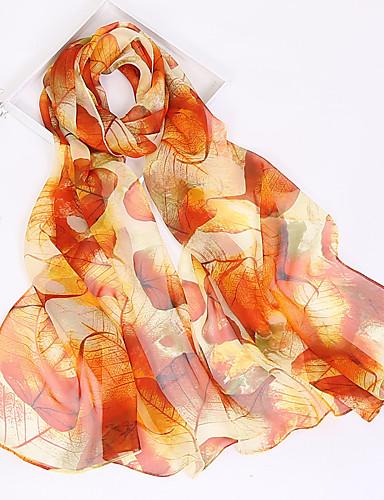 abordables Accessoires Femme-Femme Mousseline de soie Rectangle - Imprimé, Abstrait