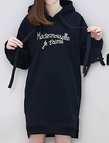 Damen Kapuzenshirt Festtage Lässig/Alltäglich Solide Leinen