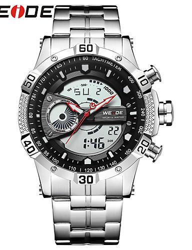 WEIDE Herrn Sportuhr / Armbanduhr / Digitaluhr Japanisch Kalender / Wasserdicht / Duale Zeitzonen Edelstahl Band Luxus / Freizeit / Modisch Schwarz / Maxell626 + 2025