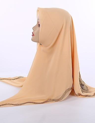 Damen Kunstseide Hidschab Solide