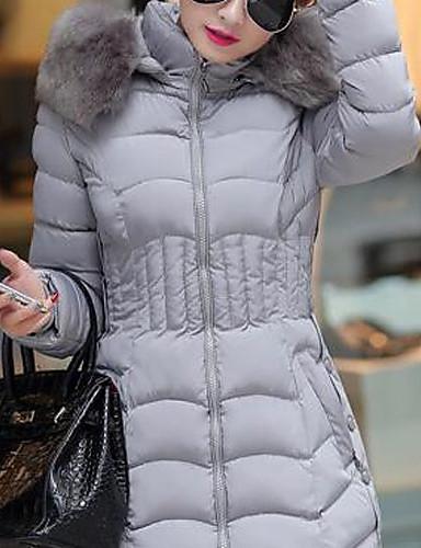 Damen Übergrössen Skinny Ausgehen Street Schick Gefüttert - Reine Farbe, Solide