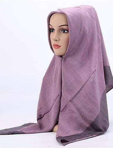 Damen Baumwolle / Leinen Hidschab Solide / Ganzjährig