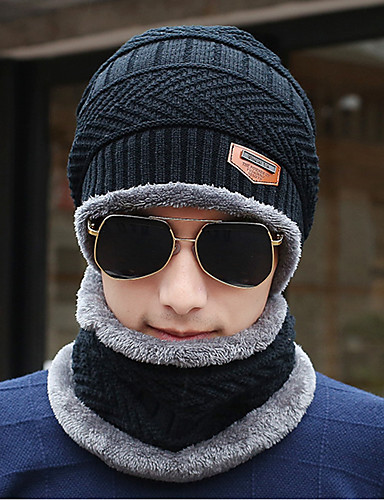 お買い得  メンズ帽子-男性用 ニット オフィス ソリッド フロッピーハット