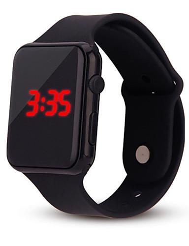 hesapli Çocuk Saatleri-Kadın's Bayan Dijital saat Kare izle Dijital Silikon Siyah / Beyaz / Mavi Kronograf Gündelik Saatler Havalı Dijital Günlük Moda Minimalist - Kırmzı Yeşil Mavi