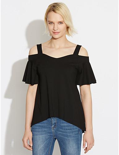 Women's Blouse - Solid Off Shoulder