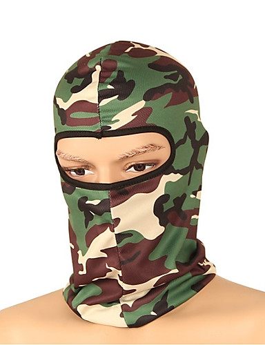 cheap Cycling Clothing-Balaclava Pollution Protection Mask Warm Cycling Bike / Cycling Red+Brown Grey Camouflage Polyester for Men's Women's Adults' Camping / Hiking Ski / Snowboard Cycling / Bike Cross-Country Bike