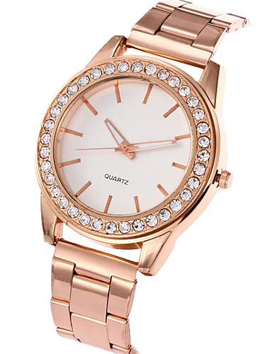 Women's Wrist Watch Casual Watch / Cool Stainless Steel Band Charm / Luxury / Casual Silver / Gold / Rose Gold