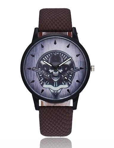 Męskie Damskie Kwarcowy Zegarek na nadgarstek Chiński Lebky PU Pasmo Vintage Na co dzień Unikalny twórczy zegarek Nowoczesne Halloween