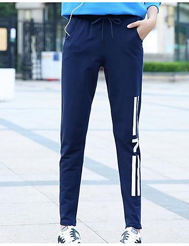 בגדי ריקוד נשים כותנה צ'ינו מכנסיים אחיד / דפוס / סתיו