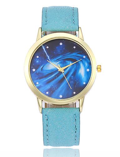 בגדי ריקוד נשים שעון יד קווארץ שעונים יום יומיים עור להקה אנלוגי אופנתי צבעוני שחור / לבן / כחול - כחול ורוד כחול בהיר