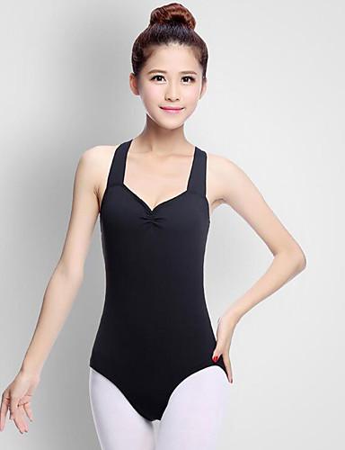 voordelige Shall We®-Ballet Gympakken Dames Prestatie Acryl Geplooid Mouwloos Natuurlijk Gympak / Onesie