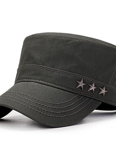 お買い得  メンズ帽子-男女兼用 コットン, ソリッド ベースボールキャップ