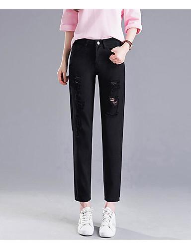 בגדי ריקוד נשים כותנה ג'ינסים מכנסיים אחיד / חורף
