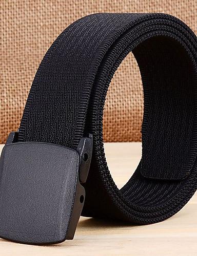 Χαμηλού Κόστους Men's Belt-Ανδρικά Συμπαγές Χρώμα Κλασσικό & Διαχρονικό Κλασσικό στυλ - Ζώνη μέσης