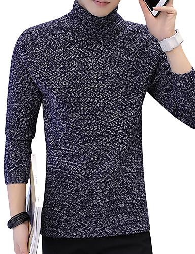 אחיד דפוס - סוודר שרוול ארוך גולף רגיל בגדי ריקוד גברים