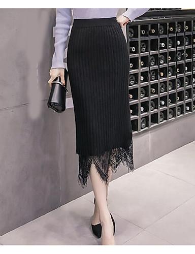 אחיד - חצאיות צינור פשוט בגדי ריקוד נשים