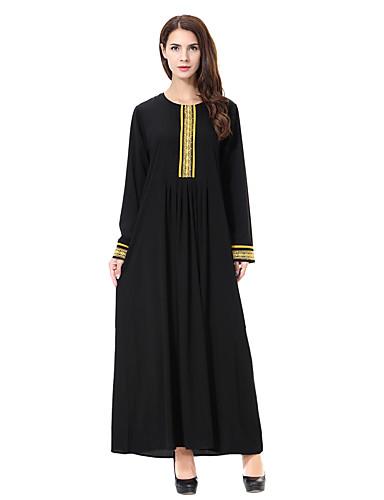 aeec6cb8b64 Women s Plus Size Daily Basic Boho Maxi Loose Dress - Solid Color Blue Gold  Green XL XXL XXXL