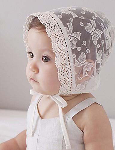 כובעים ומצחיות אביב בנדנה כותנה בנות - לבן