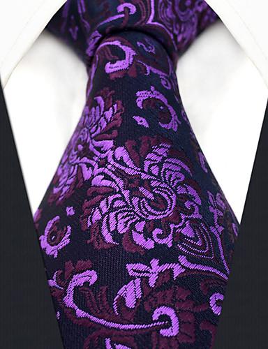 גברים של המפלגה עבודה rayon עניבה - פרח בלוק צבע אקארד